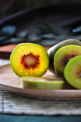 Close up Details of Red Kiwifruit