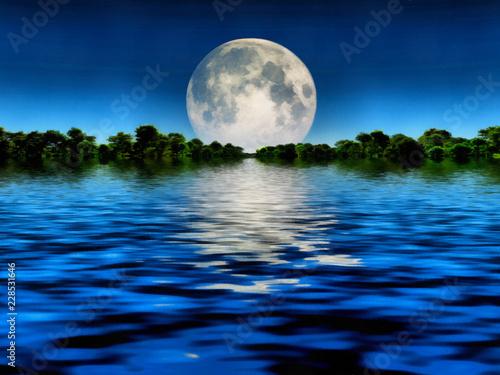 Big moon Fototapeta
