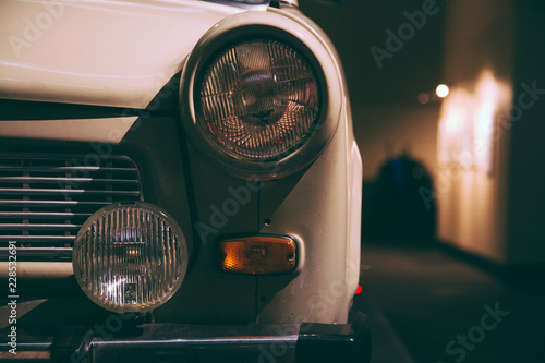 Keuken foto achterwand Vintage cars headlight of a old classic car