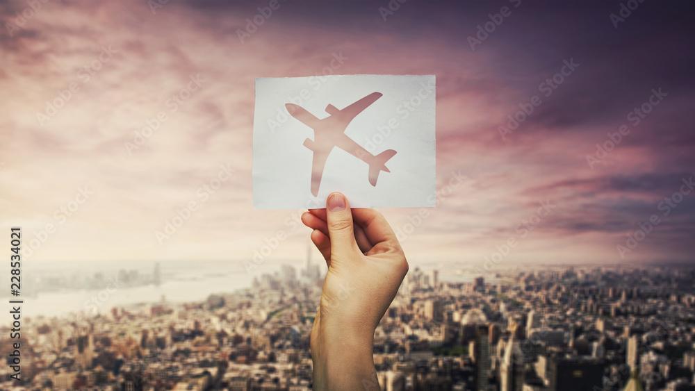 Fototapety, obrazy: holding plane icon