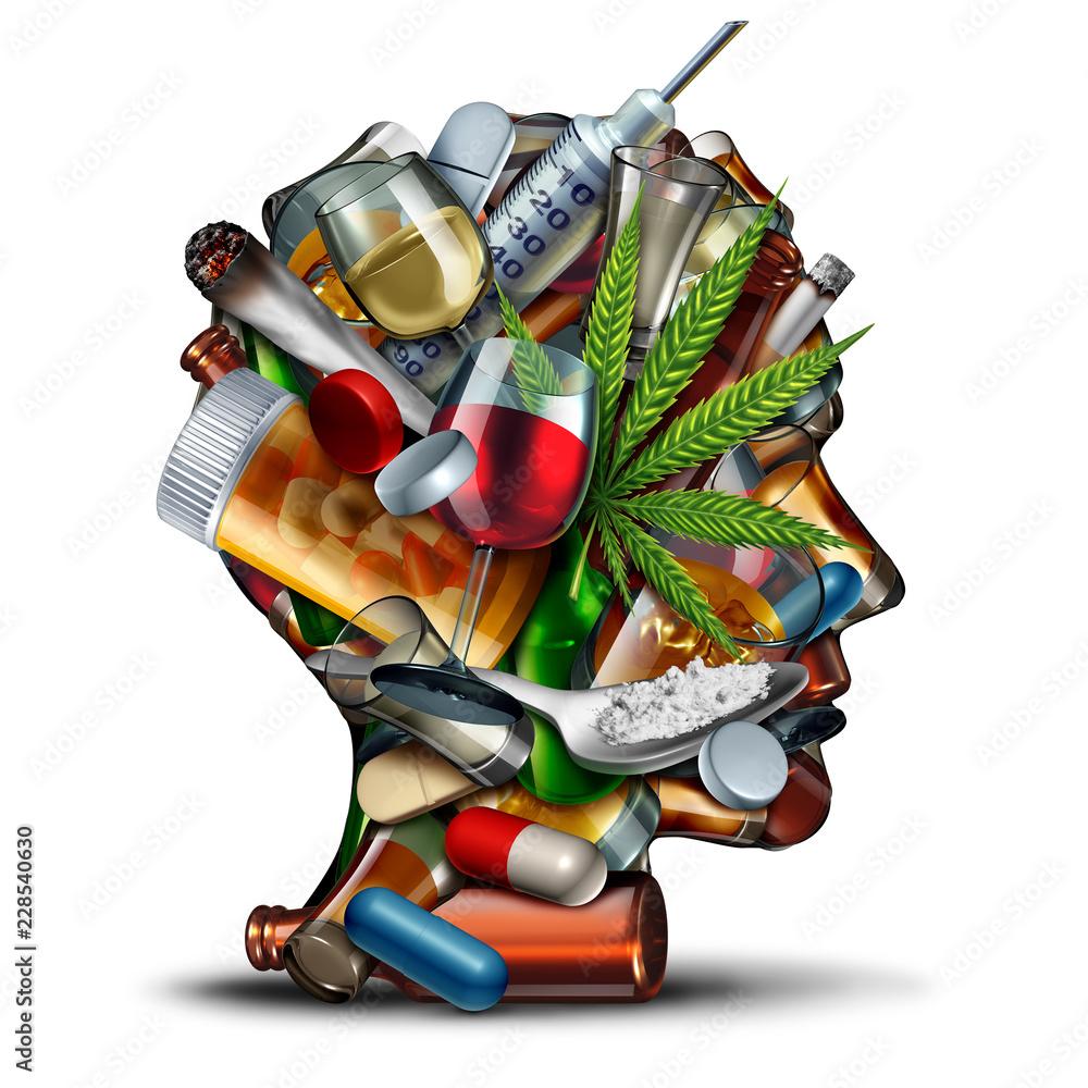 Fototapeta Concept Of Drug Addiction