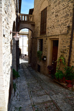 Streets Of Spello In Umbria, Italy.