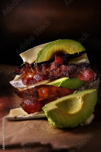 Bacon, Brie and Avocado