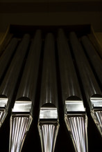 Shiny Large Metal Organ Pipes