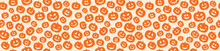 Halloween - Concept Of Seamless Pattern With Pumpkins. Vector.