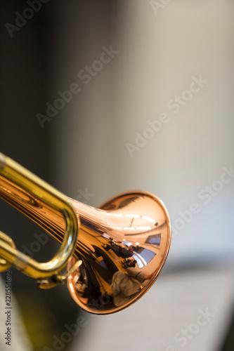 A person holding a trumpet Fototapeta