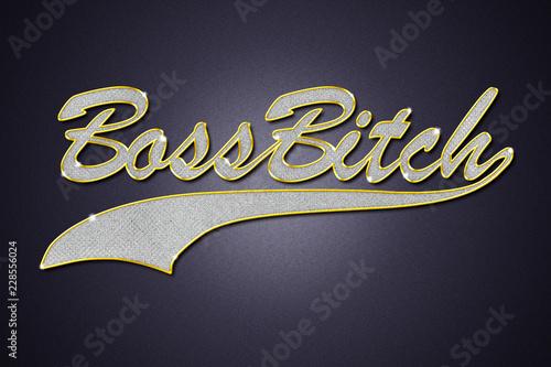 Boss Bitch Schmuck Kette Anhänger Bling Bling Canvas Print