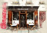 Fototapeta Fototapety Paryż - Restaurant