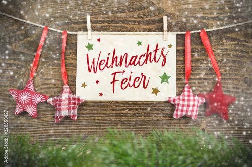 Fotografía  Kreidetafel mit Weihnachtsdekoration Weihnachten Weihnachtsfeier