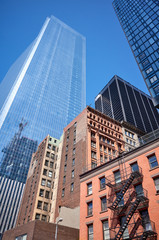 Panel Szklany Nowy York New York City old and modern architecture.