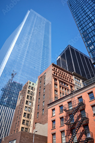 New York City old and modern architecture.