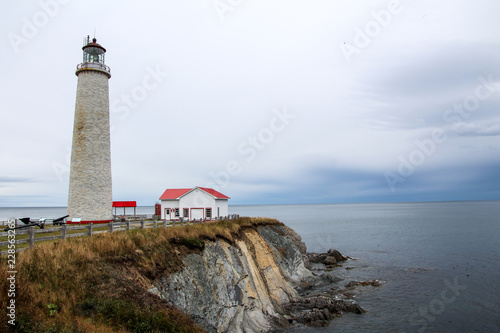 Spoed Foto op Canvas Vuurtoren Lighthouse of Cap-des-Rosiers, Gaspesie, Canada