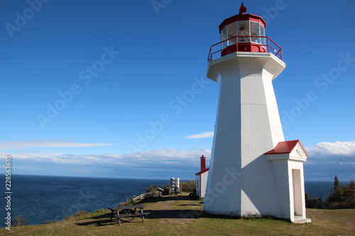 Lighthouse in the Forillon National Park, Gaspésie, Canada