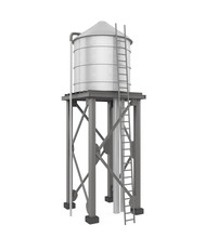 Water Tower Isolated