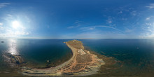 Aerial View Above The East Point Of Tabarca, Alicante, Spain