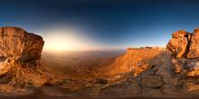 Mitzpe Ramon Canyon At Sunrise, Negev Desert, Mitzpe Ramon, Israel