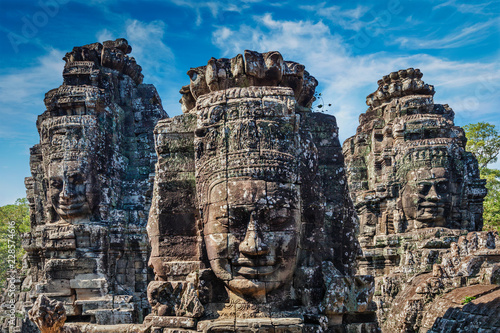 Photo sur Toile Lieu de culte Faces of Bayon temple, Angkor, Cambodia