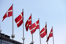 Denmark Flag On A Mat In The W...
