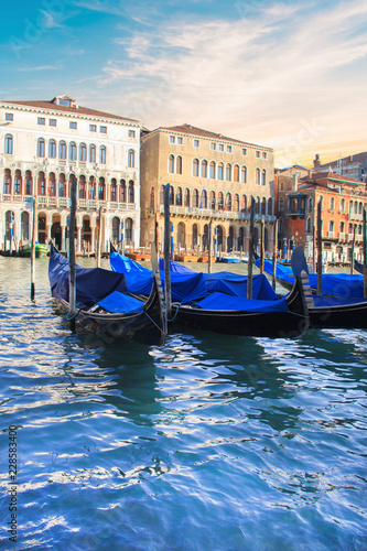 Foto op Canvas Venice Beautiful view of the gondolas and the Grand Canal, Venice, Italy