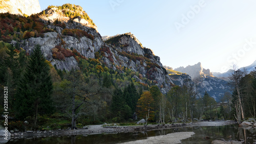 Mello's Valley, the Italian Yosemite Wallpaper Mural
