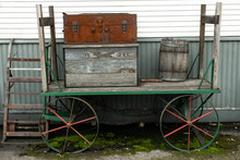 Old Luggage Rack, Barrel And T...