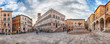 canvas print picture - Panoramic view of Piazza IV Novembre, Perugia, Italy