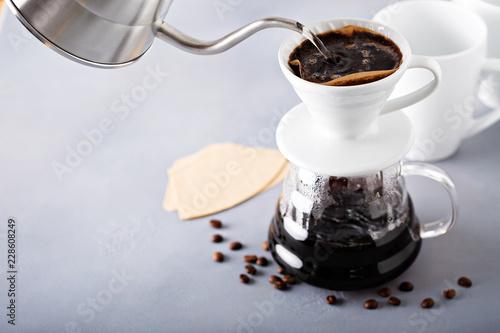 Fotografia  Pour over coffee being made
