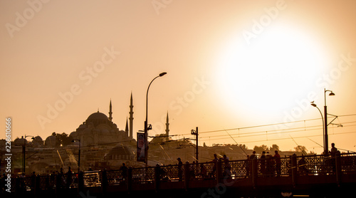 Printed kitchen splashbacks Cappuccino Ottoman style mosque in Istanbul
