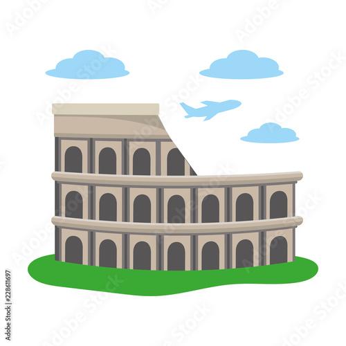 colosseum structure icon Tablou Canvas