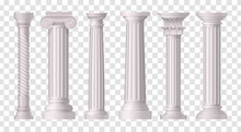Antique White Columns Transpar...