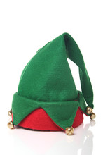 Christmas Elf Hat On A White S...