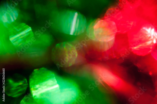 Fotografie, Obraz  Blur of red and green lights