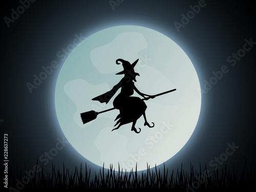 Fotografía  Halloween Hexe Hintergrund
