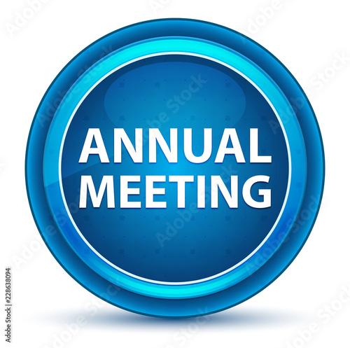 Fotografía  Annual Meeting Eyeball Blue Round Button