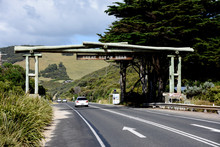 Great Ocean Road Sign On Highway 1 Australia