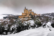 View Of The Alcazar Of Segovia...