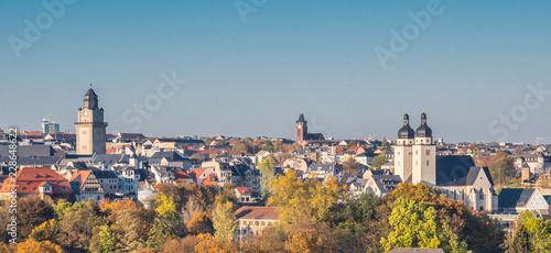 Panorama Altstadt von Plauen in Sachsen