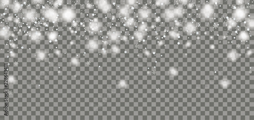 Snowfall Header Transparent Canvas Print