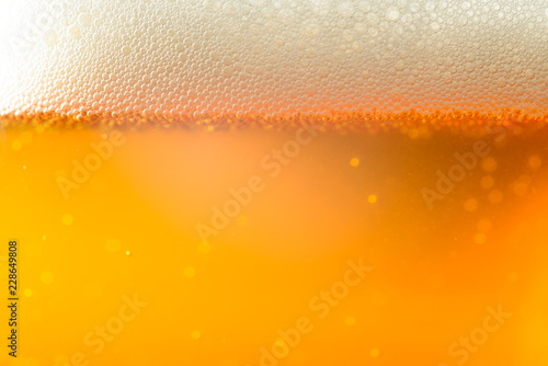 Spoed Foto op Canvas Bier / Cider IPA Craft Beer bubbles background texture