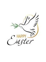 Happy Easter. Elegant Greeting...