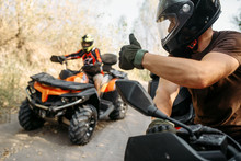 ATV Rider Showing Thumbs Up To...
