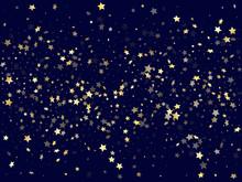 Gold Falling Star Sparkle Elem...