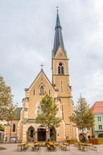 View At The Church Of Saint Nicholas In Villach - Austria