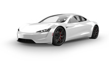 Electric Sports Car Isolated O...