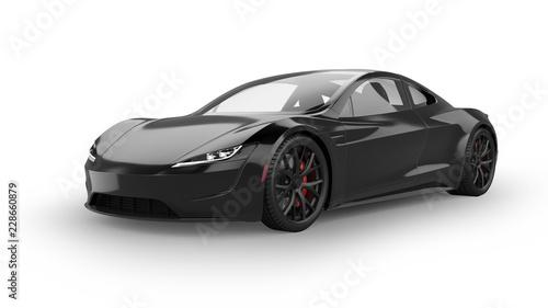 Obraz na płótnie Electric Sports Car Isolated on White