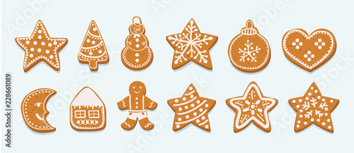 Canvastavla Frosting gingersnap on a white background