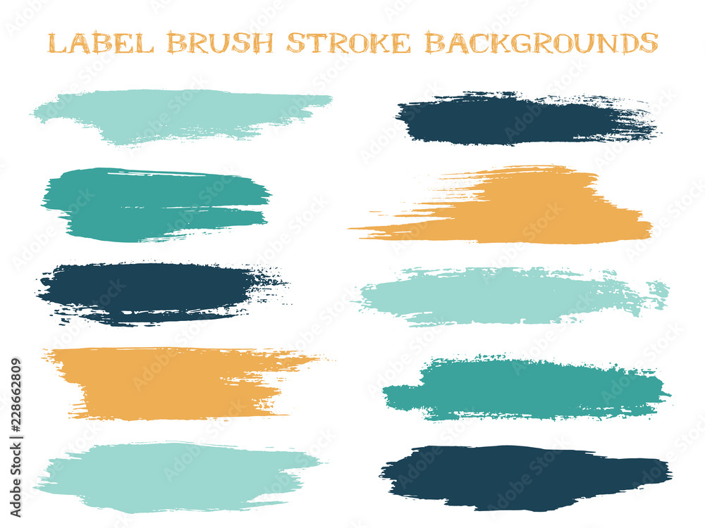Fototapety, obrazy: Craft label brush stroke backgrounds