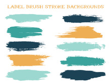 Craft Label Brush Stroke Backg...