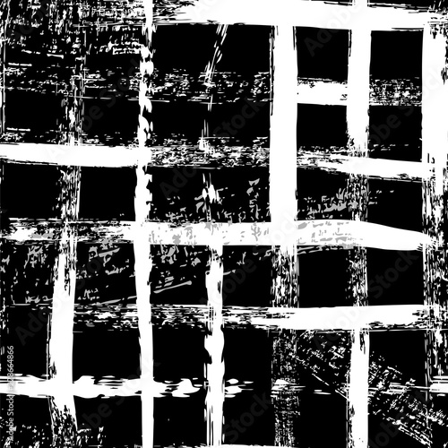 abstract seamless pattern background, with lines, squares, strokes and splashes, black and white