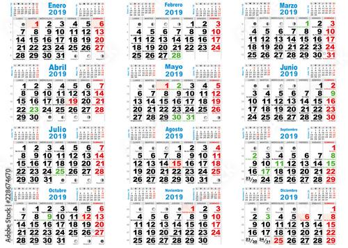 Calendario Con Santos.Calendario 2019 Santos Espana Buy This Stock Vector And Explore